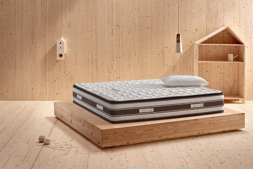 Rivestimento DRI RELEASE con marchio ricamato e sistema di esecuzione Pillow Top Plus - REMovable - SOMNIUM materassi