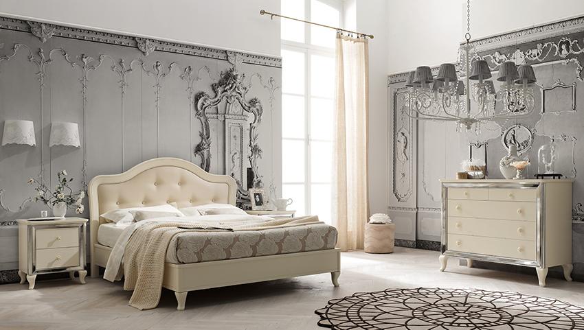 Ballancin letto romantico laccato magnolia