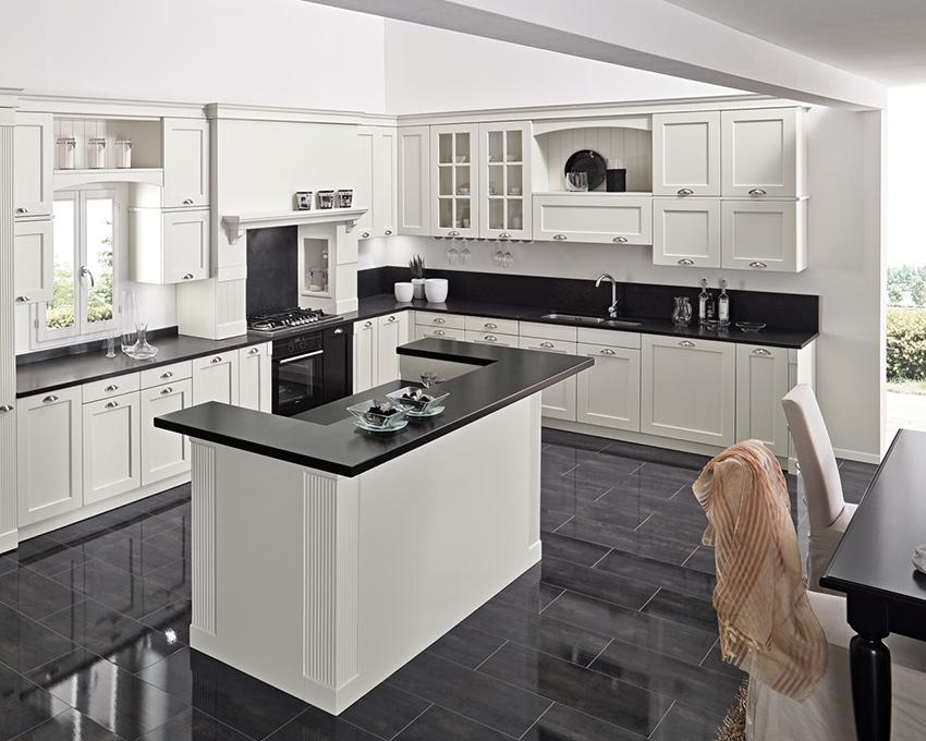 Cucina chiara legno bianca Vettoretti