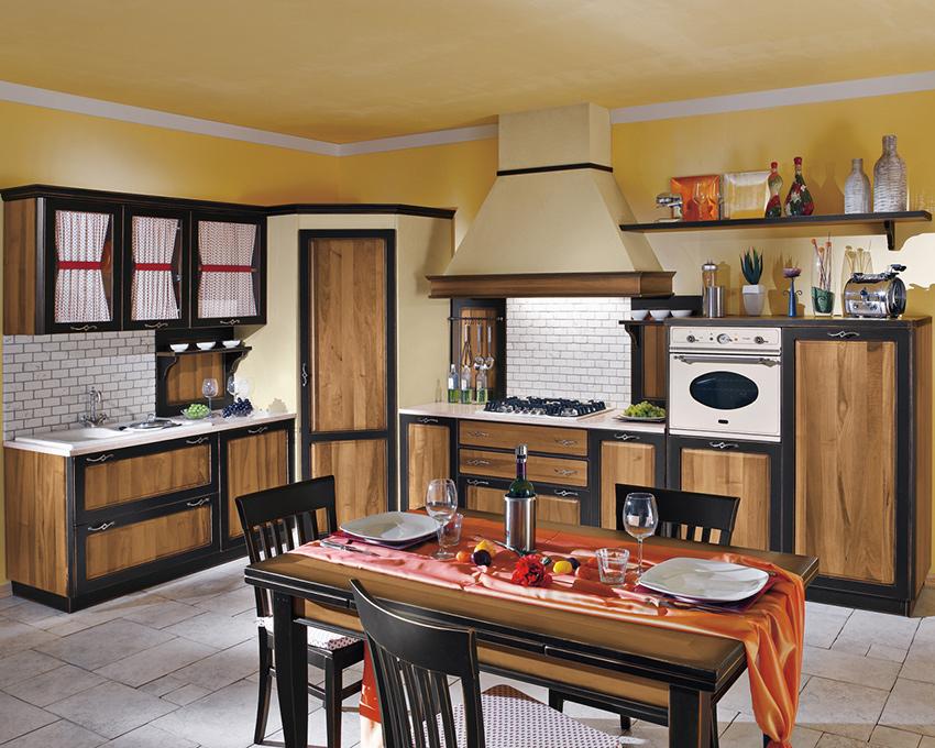 Cucina Minerva noce nero Vettoretti