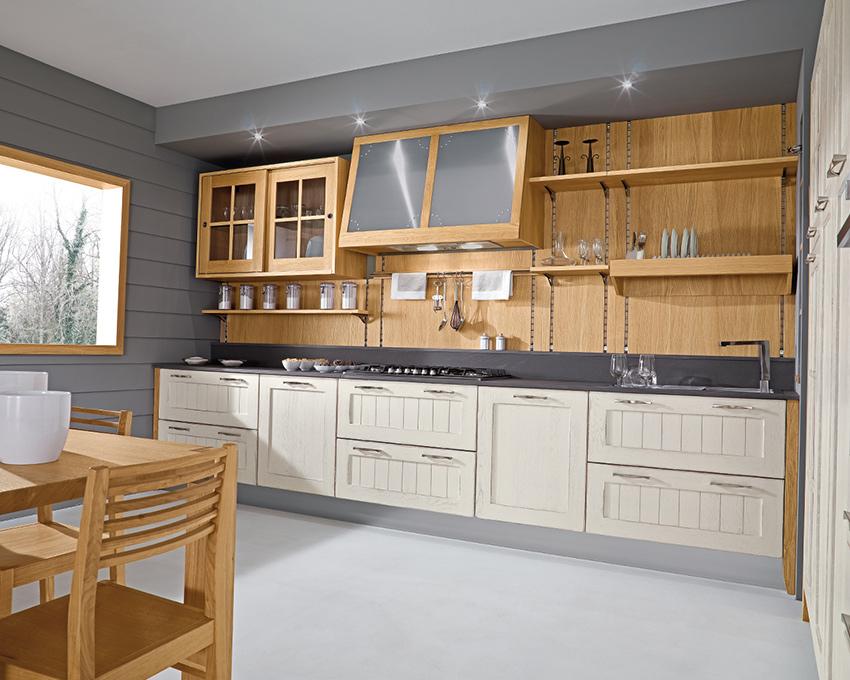 Cucina Verdiana rovere moderna Vettoretti
